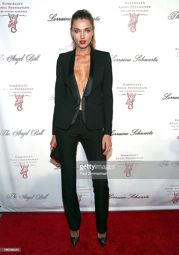 Model Alina Baikova attends Angel Ball 2013 at Cipriani Wall Street on October 29, 2013 in New York City.