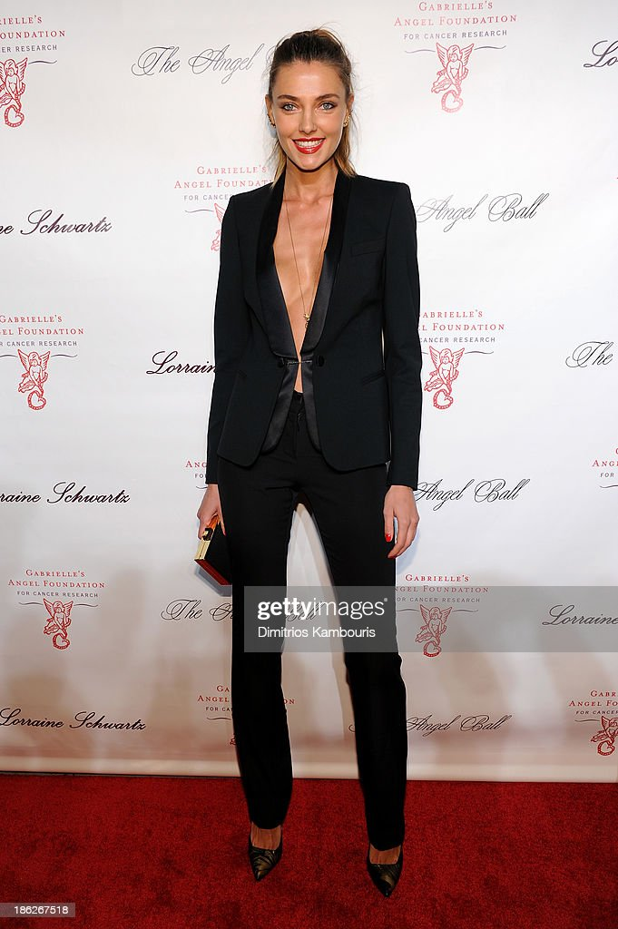 Model Alina Baikova attends Gabrielle's Angel Foundation Hosts Angel Ball 2013 at Cipriani Wall Street on October 29, 2013 in New York City.