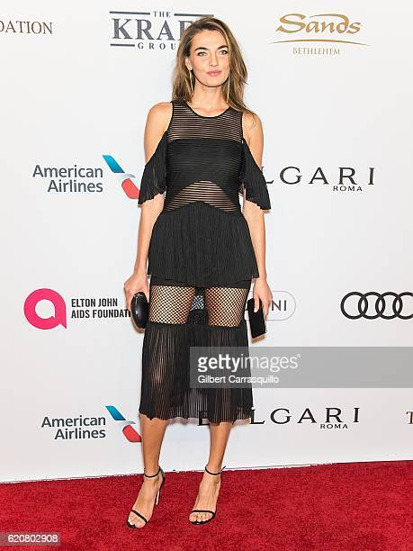 Model Alina Baikova attends the 15th Annual Elton John AIDS Foundation An Enduring Vision Benefit at Cipriani Wall Street on November 2 2016 in New...