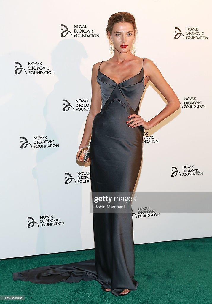 Model Alina Baikova attends the 2013 Novak Djokovic Dinner at Capitale on September 10, 2013 in New York City.