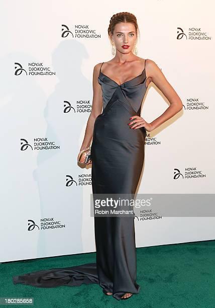 Model Alina Baikova attends the 2013 Novak Djokovic Dinner at Capitale on September 10 2013 in New York City