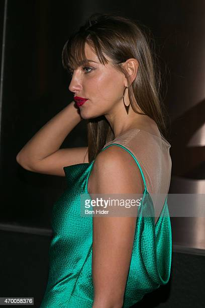 Model Alina Baikova attends the 2015 New Yorkers For Children A Fool's Fete Spring Dinner Dance at the Mandarin Oriental New York on April 16 2015 in...