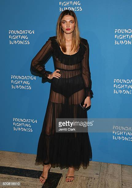 Model Alina Baikova attends the 2016 Foundation Fighting Blindness World Gala at Cipriani Downtown on April 12 2016 in New York City