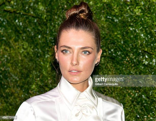 Model Alina Baikova attends the 9th annual Chanel Artists Dinner during the 2014 Tribeca Film Festival at Balthazar on April 22 2014 in New York New...