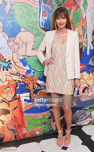 Model Alina Baikova attends the alice olivia by Stacey Bendet and the CFDA celebration of the alice olivia and Domingo Zapata collaboration on April...