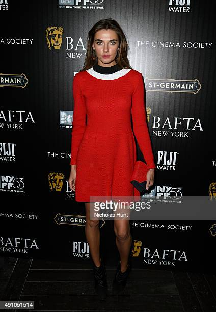 Model Alina Baikova attends the BAFTA New York The Cinema Society With FIJI Water StGermain party for the New York Film Festival at PHD Terrace at...