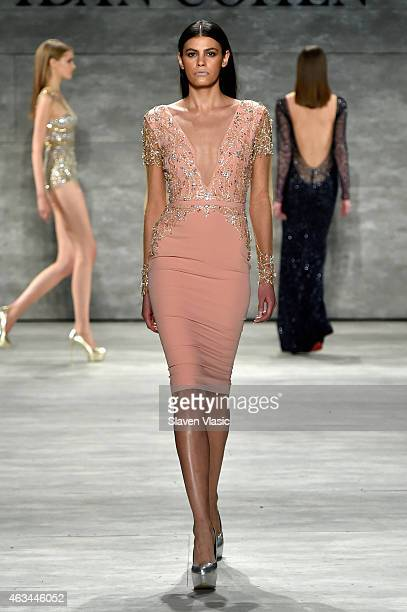 Model Alisar Ailabouni walks the runway at the Idan Cohen fashion show during MercedesBenz Fashion Week Fall 2015 at The Pavilion at Lincoln Center...