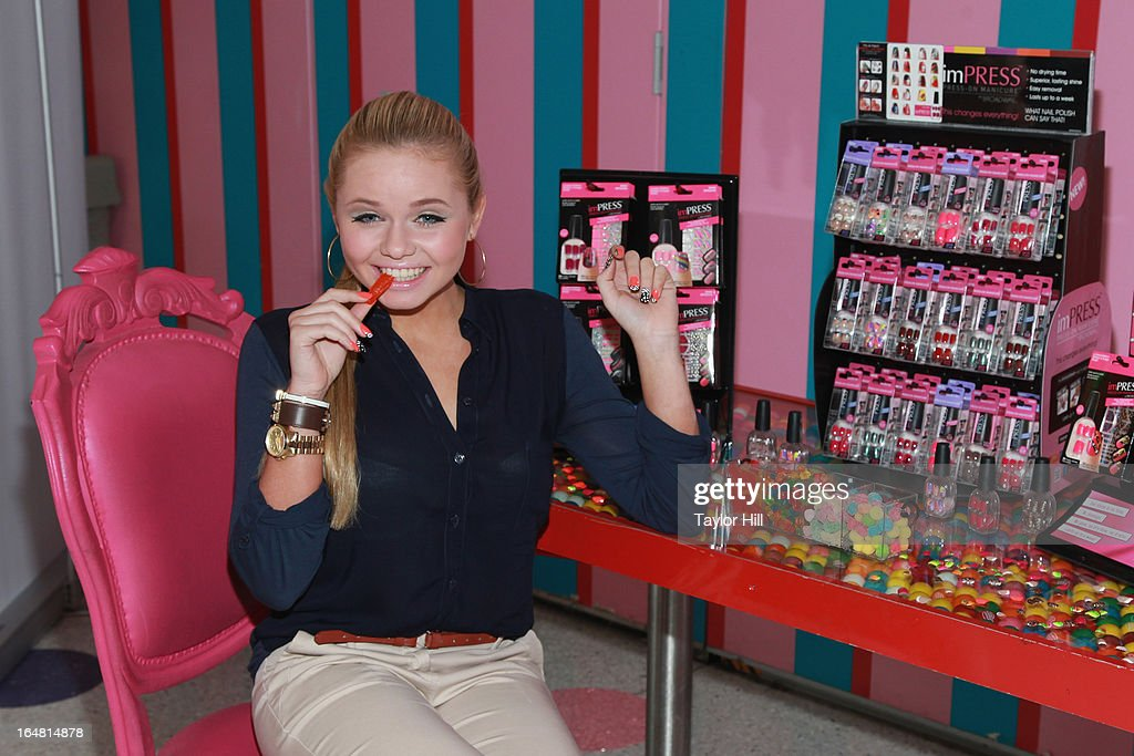 Model Alli Simpson attends the Alli Simpson imPRESS Signature Nail Series Launch Event at Dylan's Candy Bar on March 28, 2013 in New York, New York.