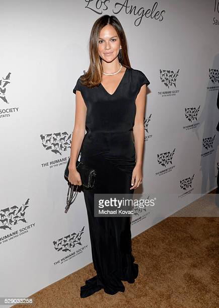 Model Allie Rizzo attends The Humane Society of the United States' to the Rescue Gala at Paramount Studios on May 7 2016 in Hollywood California
