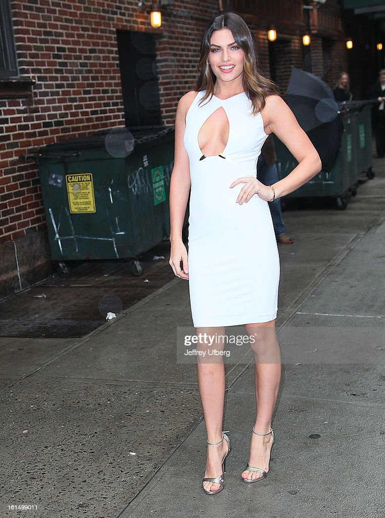 Model Alyssa Miller arrives to 'Late Show with David Letterman' at Ed Sullivan Theater on February 11, 2013 in New York City.