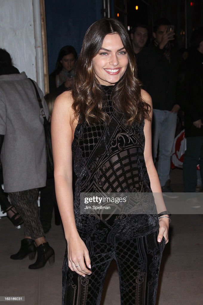 Model Alyssa Miller attends the Gucci and The Cinema Society screening of 'Oz the Great and Powerful' at the DGA Theater on March 5, 2013 in New York City.