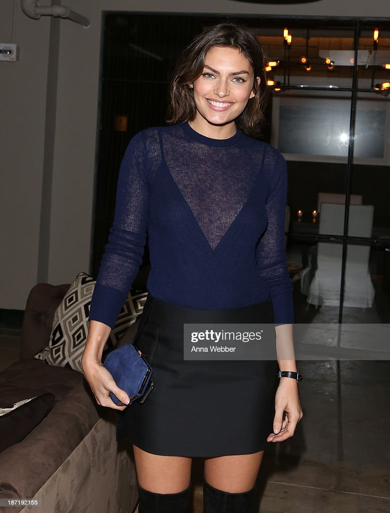 Model <a gi-track='captionPersonalityLinkClicked' href=/galleries/search?phrase=Alyssa+Miller&family=editorial&specificpeople=5364734 ng-click='$event.stopPropagation()'>Alyssa Miller</a> wears Ferragamo Fall/Winter Collection during Ferragamo and Stefano Tonchi Present A VIP Screening of Premier Film Walking Stories on November 6, 2013 in New York City.
