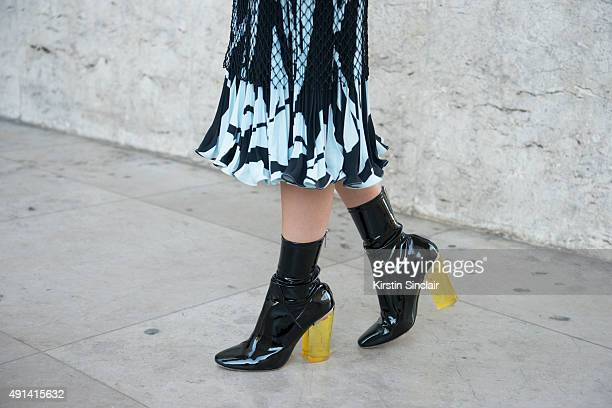 Model Amalie Gassmann wears all Dior on day 4 of Paris Collections Women on October 2 2015 in Paris France Amalie Gassmann