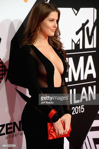 Model Amanda Cerny attends the MTV EMA's 2015 at the Mediolanum Forum on October 25 2015 in Milan Italy