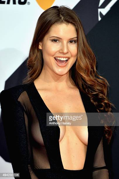 Model Amanda Cerny attends the MTV EMA's 2015 at the Mediolanum Forum on October 25 2015 in Milan Italy