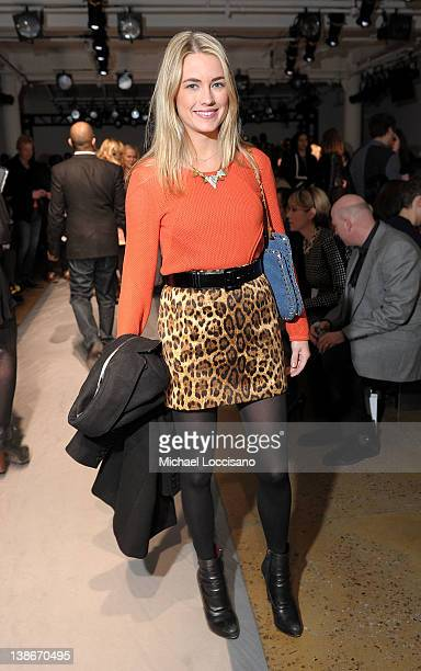 Model Amanda Hearst attends the Peter Som Fall 2012 fashion show during MercedesBenz Fashion Week at Milk Studios on February 10 2012 in New York City