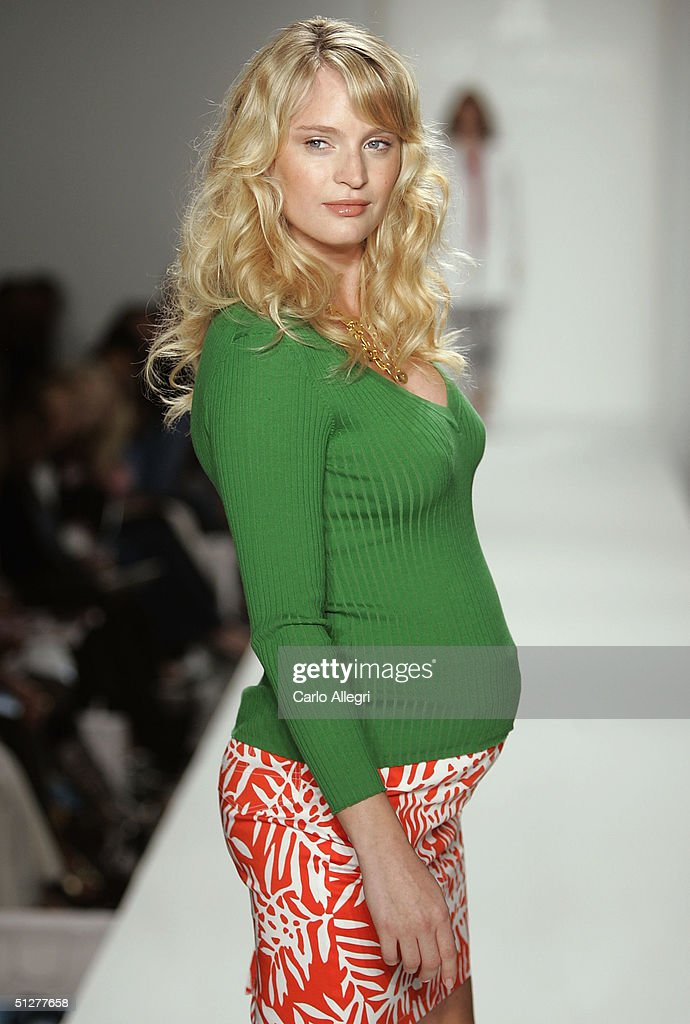 Model Amanda Wesson walks down the runway at the Liz Lange Couture Spring 2005 fashion show during the Olympus Fashion Week Spring 2005 at the Bryant in Bryant Park September 9, 2004 in New York City.
