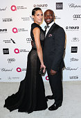 Model Amanza Smith Brown and actor Taye Diggs attend the 23rd Annual Elton John AIDS Foundation's Oscar Viewing Party on February 22 2015 in West...