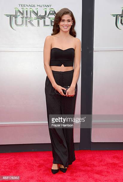 Model Amber Alvarez attends Paramount Pictures' 'Teenage Mutant Ninja Turtles' premiere at Regency Village Theatre on August 3 2014 in Westwood...