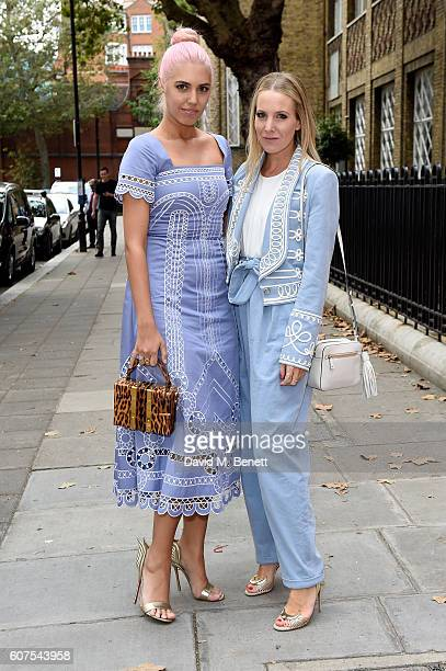 Model Amber Le Bon and Alice NaylorLeyland attend the Temperley London show at London Fashion Week Spring/Summer collections 2017 at The Lindley Hall...