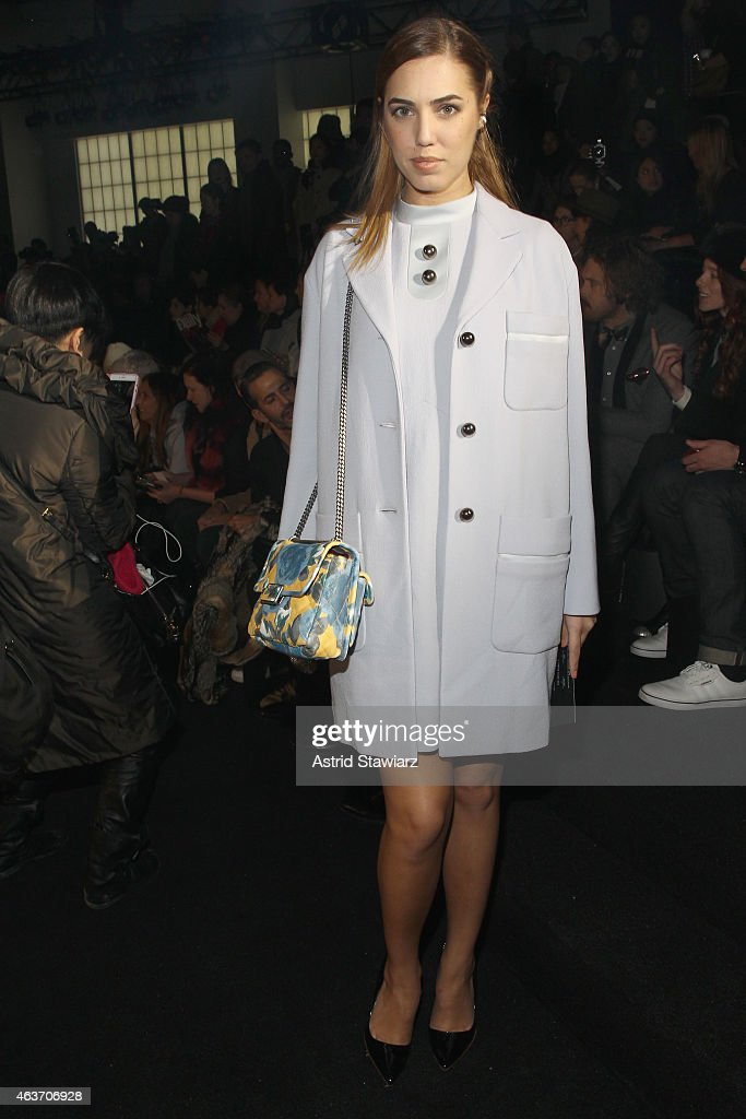 Model Amber Le Bon attends the Marc By Marc Jacobs fashion show during Mercedes-Benz Fashion Week Fall 2015 at Pier 94 on February 17, 2015 in New York City.