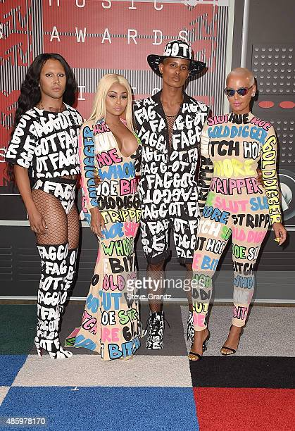 Model Amber Rose and guests attend the 2015 MTV Video Music Awards at Microsoft Theater on August 30 2015 in Los Angeles California