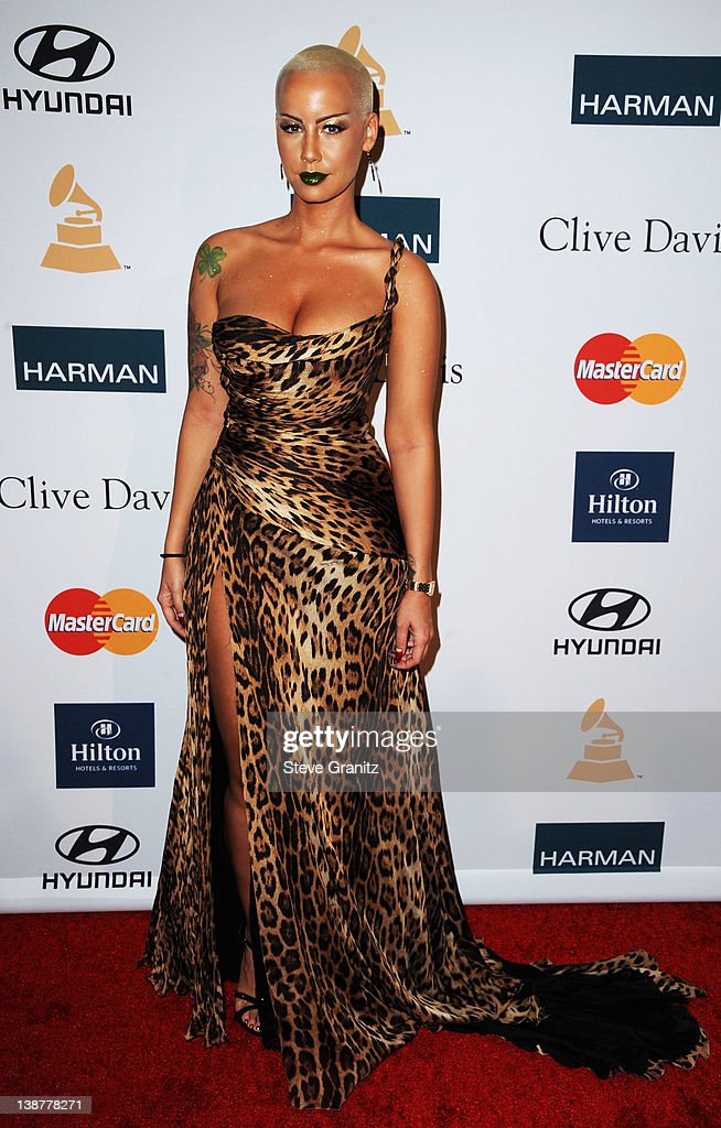 Model <a gi-track='captionPersonalityLinkClicked' href=/galleries/search?phrase=Amber+Rose+-+Model&family=editorial&specificpeople=2025513 ng-click='$event.stopPropagation()'>Amber Rose</a> arrives at Clive Davis and The Recording Academy's 2012 Pre-GRAMMY Gala and Salute to Industry Icons Honoring Richard Branson at The Beverly Hilton hotel on February 11, 2012 in Beverly Hills, California.