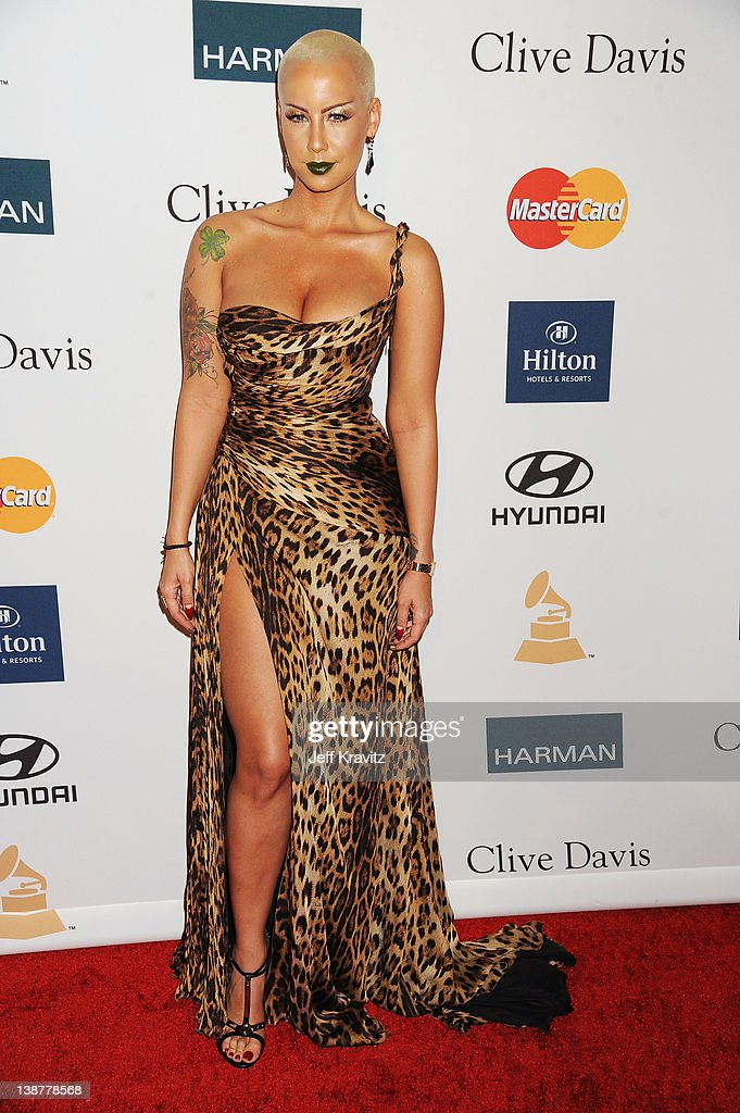 Model <a gi-track='captionPersonalityLinkClicked' href=/galleries/search?phrase=Amber+Rose+-+Model&family=editorial&specificpeople=2025513 ng-click='$event.stopPropagation()'>Amber Rose</a> arrives at Clive Davis and the Recording Academy's 2012 Pre-GRAMMY Gala and Salute to Industry Icons Honoring Richard Branson held at The Beverly Hilton Hotel on February 11, 2012 in Beverly Hills, California.