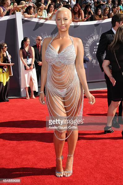 Model Amber Rose arrives at the 2014 MTV Video Music Awards at The Forum on August 24 2014 in Inglewood California