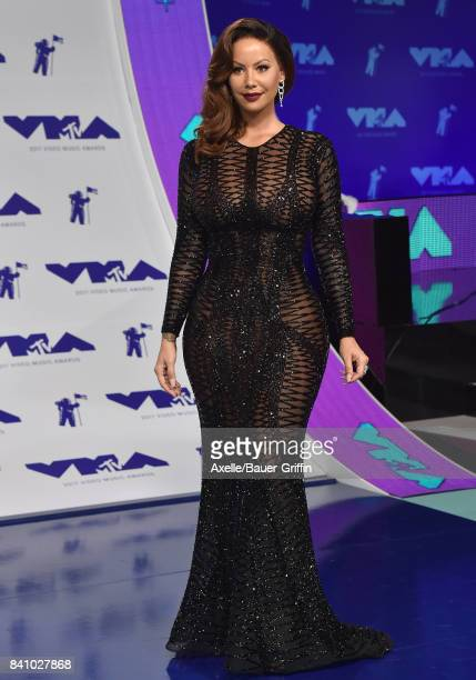 Model Amber Rose arrives at the 2017 MTV Video Music Awards at The Forum on August 27 2017 in Inglewood California