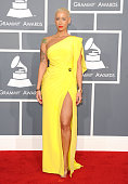 Model Amber Rose arrives at the 54th Annual GRAMMY Awards held at Staples Center on February 12 2012 in Los Angeles California