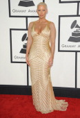 Model Amber Rose arrives at the 56th GRAMMY Awards at Staples Center on January 26 2014 in Los Angeles California
