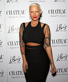 Model Amber Rose arrives at the Chateau Nightclub Rooftop at the Paris Las Vegas on May 23 2015 in Las Vegas Nevada