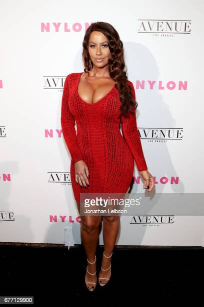 Model Amber Rose at the NYLON Young Hollywood Party at AVENUE Los Angeles on May 2 2017 in Los Angeles California