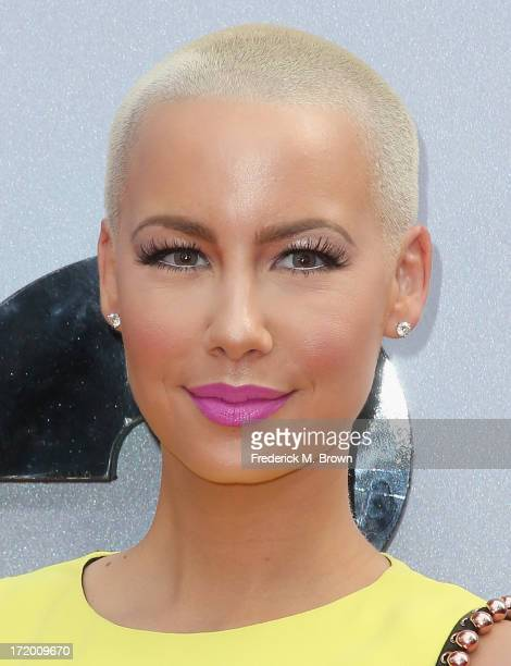 Model Amber Rose attends the 2013 BET Awards at Nokia Theatre LA Live on June 30 2013 in Los Angeles California