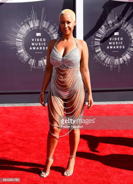 Model Amber Rose attends the 2014 MTV Video Music Awards at The Forum on August 24 2014 in Inglewood California