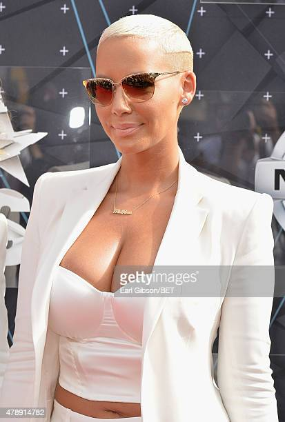 Model Amber Rose attends the 2015 BET Awards at the Microsoft Theater on June 28 2015 in Los Angeles California