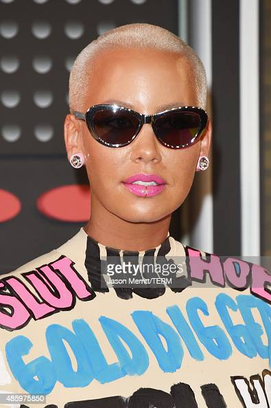 Model Amber Rose attends the 2015 MTV Video Music Awards at Microsoft Theater on August 30 2015 in Los Angeles California