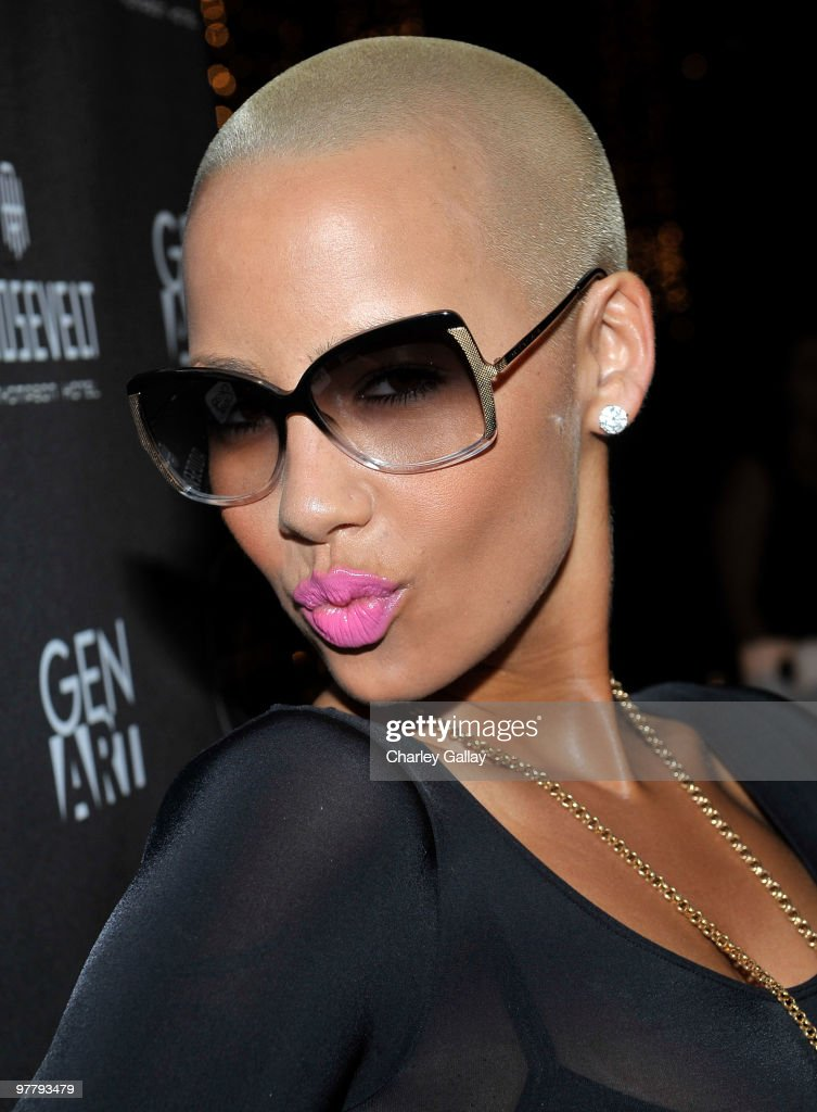 Model Amber Rose attends the Gen Art LA Fashion Alumni Celebration at The Roosevelt Hotel on March 16, 2010 in Hollywood, California.