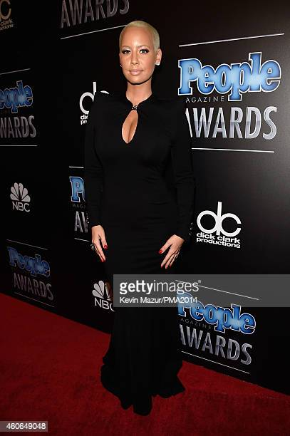 Model Amber Rose attends the PEOPLE Magazine Awards at The Beverly Hilton Hotel on December 18 2014 in Beverly Hills California