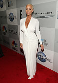 Model Amber Rose attends Universal NBC Focus Features and E Entertainment 2015 Golden Globe Awards After Party sponsored by Chrysler and Hilton at...