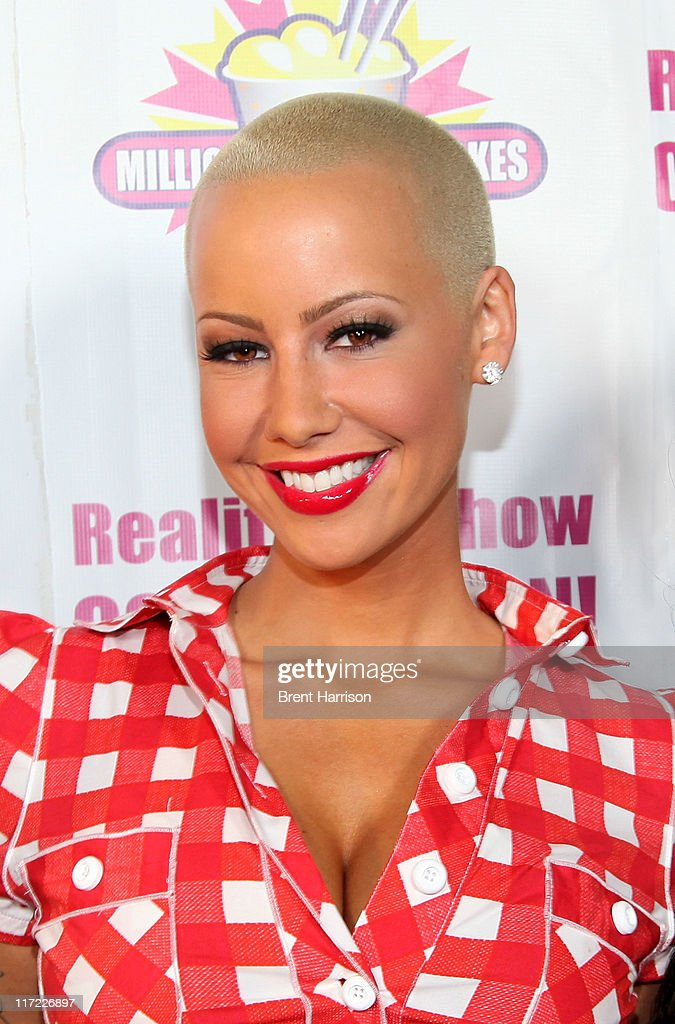 Model Amber Rose launches her signature milkshake, 'The Amber Rose Blondie' at Millions of Milkshakes on June 23, 2011 in West Hollywood, California.