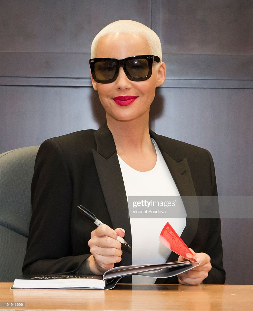 Model Amber Rose Signs Her New Book 'how To Be A Bad Bitch' At