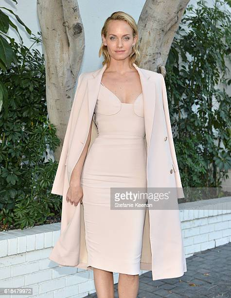 Model Amber Valletta at the CFDA/Vogue Fashion Fund Show and Tea presented by kate spade new york at Chateau Marmont on October 26 2016 in Los...
