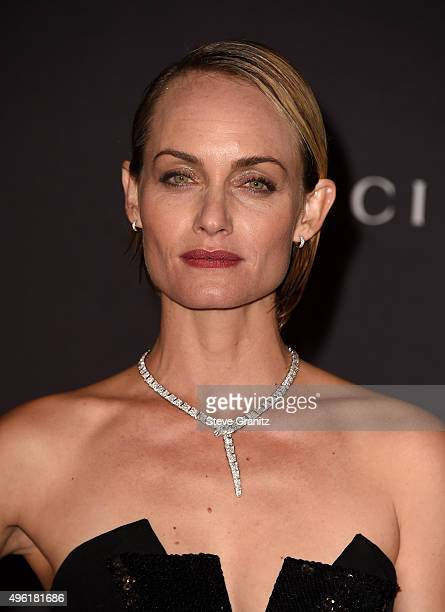 Model Amber Valletta attends LACMA 2015 ArtFilm Gala Honoring James Turrell and Alejandro G Iñárritu Presented by Gucci at LACMA on November 7 2015...
