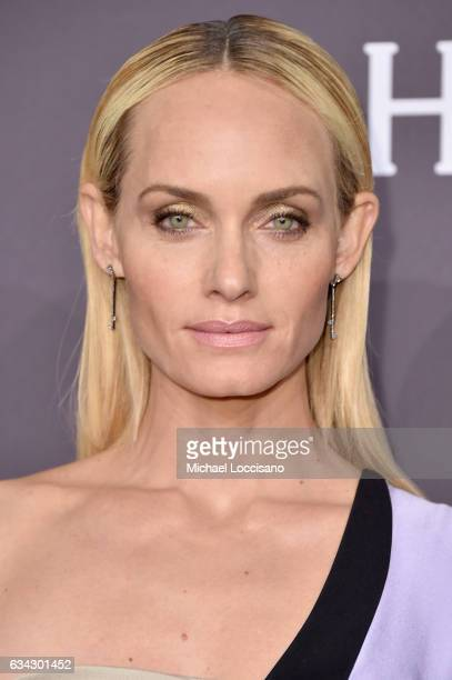 Model Amber Valletta attends the 19th Annual amfAR New York Gala at Cipriani Wall Street on February 8 2017 in New York City