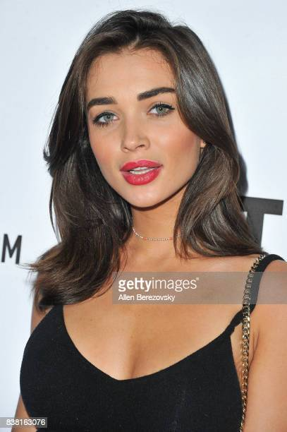Model Amy Jackson attends 'Secret Party' Launch Celebrating Cover Star Cameron Dallas hosted by TINGS at Nightingale on August 23 2017 in West...