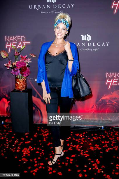 Model an StyleInfluencer Sarah Nowak during the Urban Decay Naked Heat Launch at House of weekend on August 10 2017 in Berlin Germany