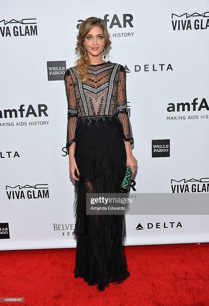 Model Ana Beatriz Barros arrives at amfAR The Foundation for AIDS 4th Annual Inspiration Gala at Milk Studios on December 12, 2013 in Hollywood, California.