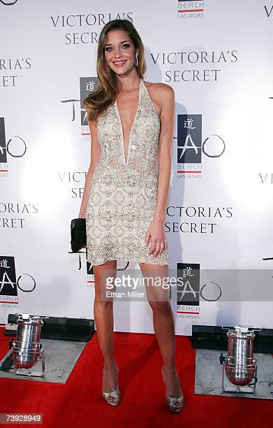 Model Ana Beatriz Barros arrives at the after party for Victoria's Secret's debut of the 'What is Sexy' 2007 list at the Tao Beach at The Venetian...